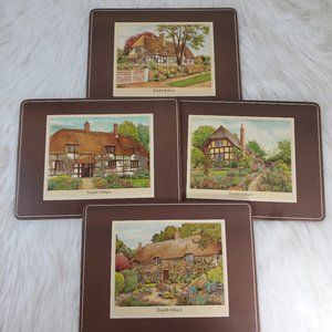 Vintage Pimpernel English Cottages Cork Placemats